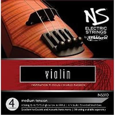 D'Addario NS310 NS Electric Violin Strings, Medium