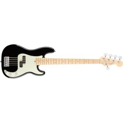 Fender American Professional Precision Bass V Five String, Black, Maple for sale