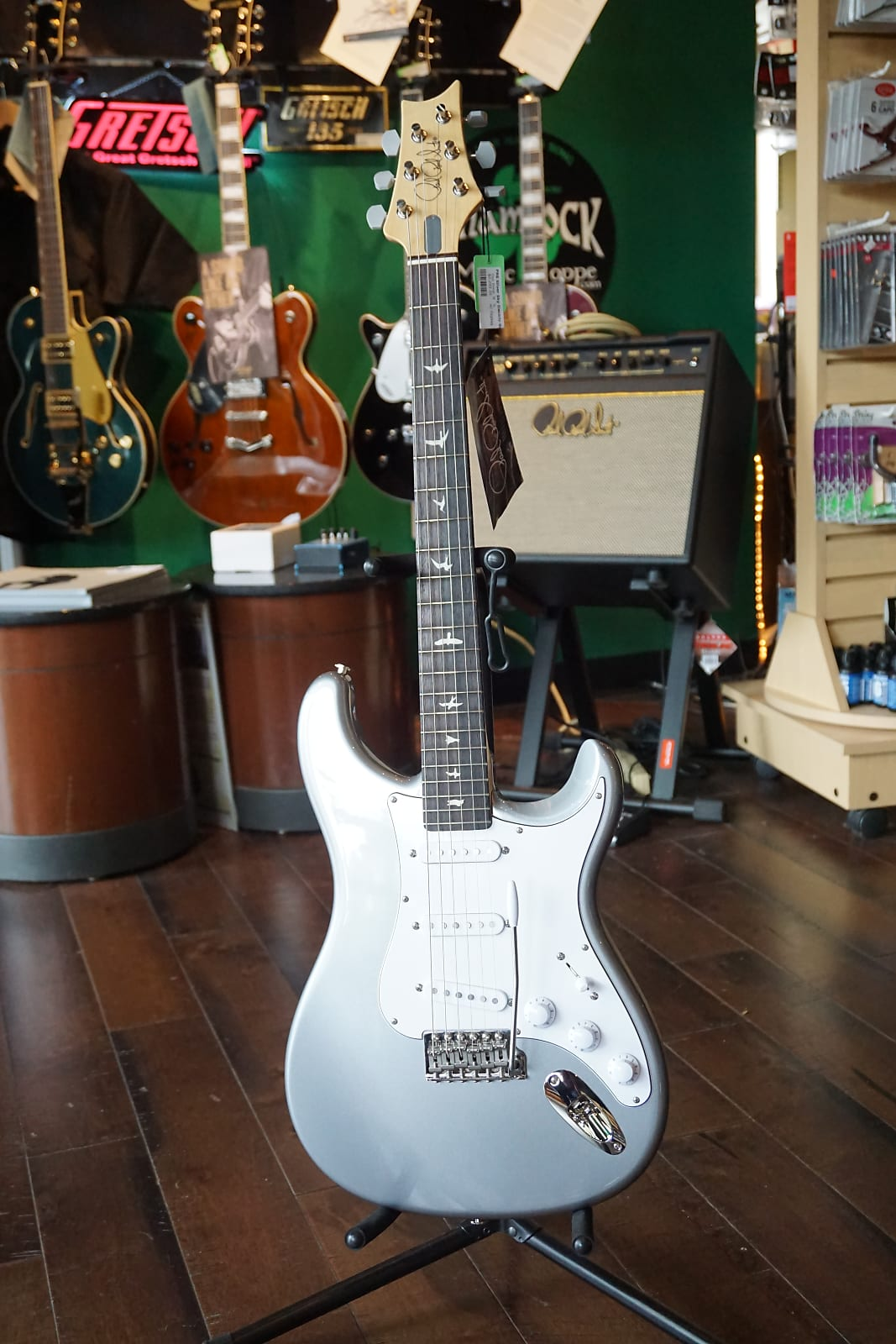 NEW US Paul Reed Smith PRS John Mayer Silver Sky Tungsten Electric Guitar & Gig Bag