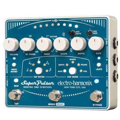 Electro-Harmonix EHX Super Pulsar Stereo Tap Tremolo Effects Pedal