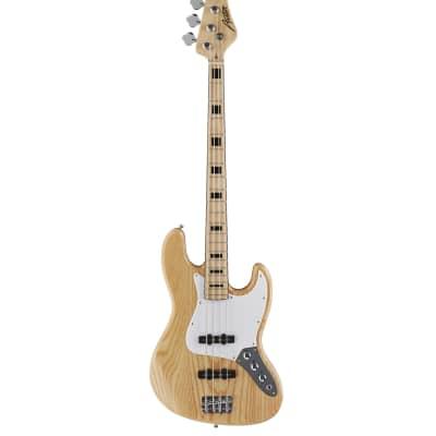 Austin AJB300N Double Cutaway 4 String Bass Natural for sale