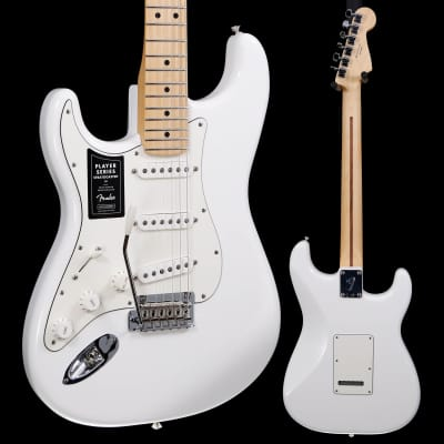 Fender Player Stratocaster Left-Handed, Maple Fb, Polar White 566 7lbs 12.5oz for sale
