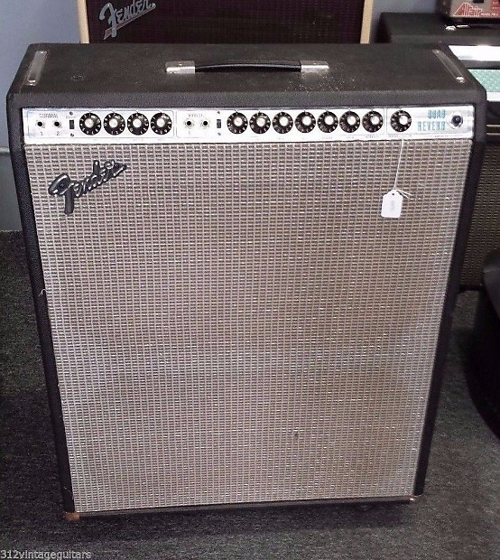 70 39 s fender quad reverb 4x12 electric guitar amplifier reverb. Black Bedroom Furniture Sets. Home Design Ideas