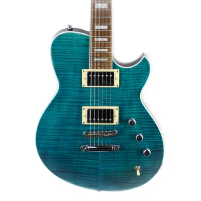 Reverend Roundhouse FM in Trans Turquoise for sale