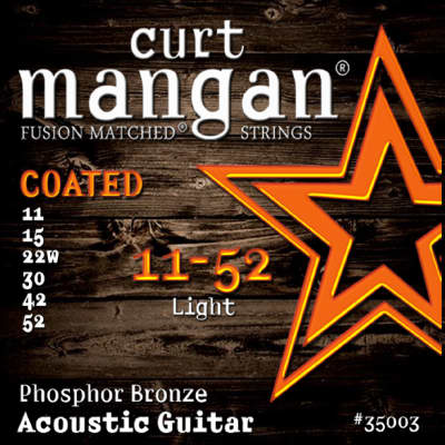 3 PACK Curt Mangan Fusion Matched Strings 11-52 Light PhosPhor Bronze COATED