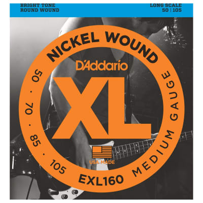 D'Addario XL Long Scale Bass Strings (50-105)