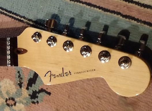 Usa Fender American Stratocaster Deluxe Strat Neck Lsr Nut