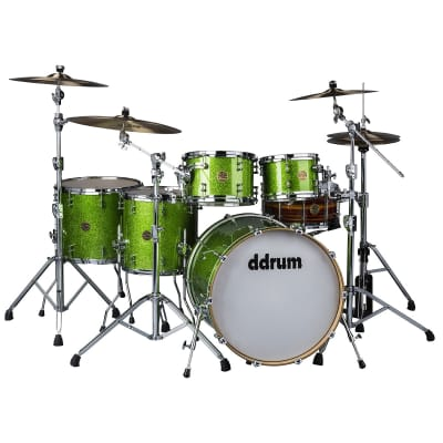 DDrum Dios 522 5pc 100% Maple Shell Pack in Emerald Green Lacquer 10/12/14/16/22 Brand New