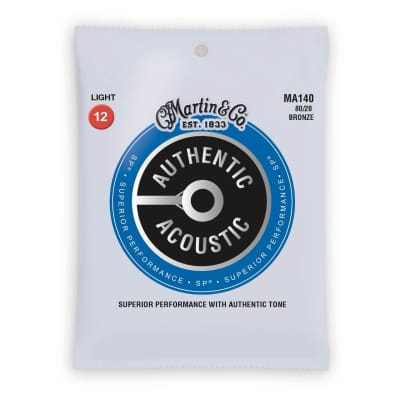Martin Authentic Acoustic Strings Bronze 80/20 Light 12-54 MA140 for sale
