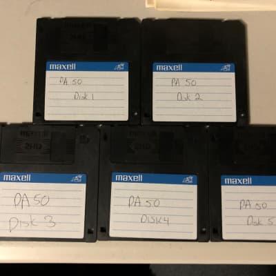 Korg PA-50 Factory Reload Five Disk Set