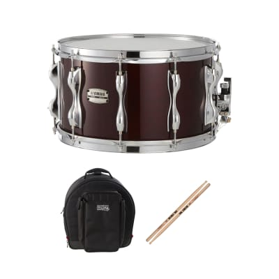 "Yamaha RBS-1480 14"" x 8"" Classic Walnut Recording Custom Birch Snare Drum with Yamaha Snare Stand and 2 pairs of sticks"