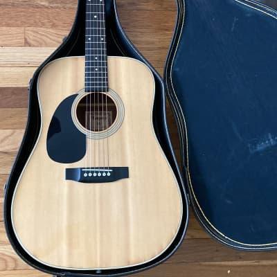 1980s Lotus L200L Acoustic Dreadnought Guitar, MIJ Japan, CLEAN RARE LEFTY for sale