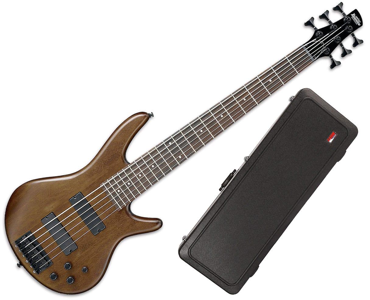 ibanez gsr206b 6 string bass guitar walnut flat with gator reverb. Black Bedroom Furniture Sets. Home Design Ideas