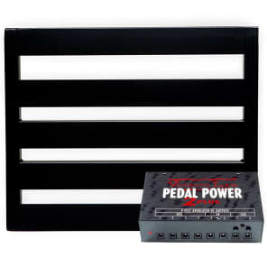 Pedaltrain NOVO 18 Pedalboard w/Tour Case Bundle w/ Voodoo Lab Pedal Power 2 PLUS Isolated Power Supply