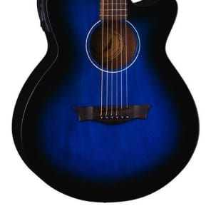 Dean AXcess Performer Acoustic/Electric Guitar, Mah, Blueburst, AX PE BB for sale