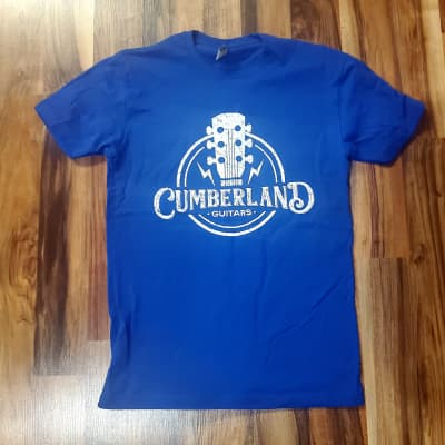 Cumberland Guitars Distressed T-Shirt - Royal Blue - Small S