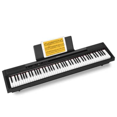 Digital Piano 88 Key Full Size Semi Weighted Keyboard, Portable Electric Piano with Sustain Pedal
