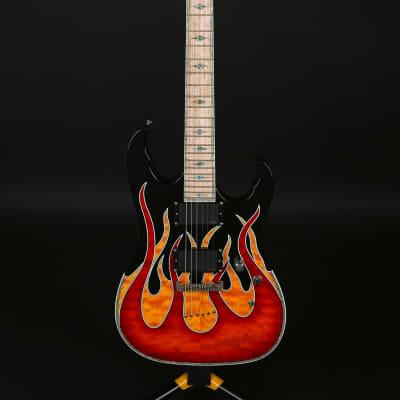 Kraken Hero Supreme KA Flame High-End Electric Guitar Unique Design Graphic for sale