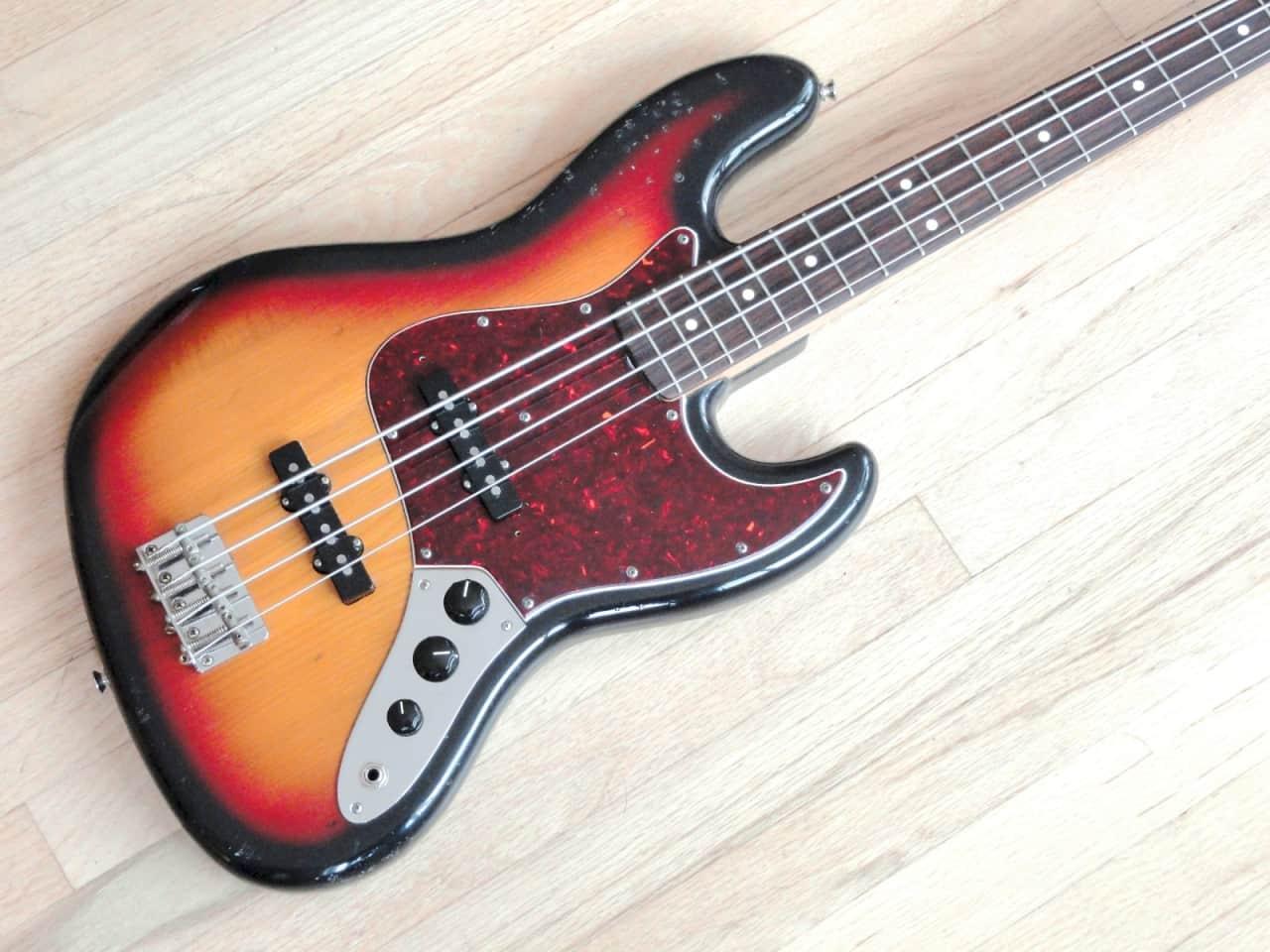 1982 squier jv 39 62 jazz bass sunburst japan mij fender reverb. Black Bedroom Furniture Sets. Home Design Ideas