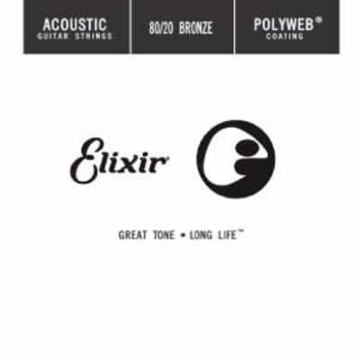 Elixir 13127 Acoustic 80/20 Bronze Polyweb Single