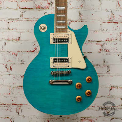 Epiphone Limited Edition Les Paul Traditional PRO-III Plus Electric Guitar Second Ocean Blue x2570 (USED) for sale