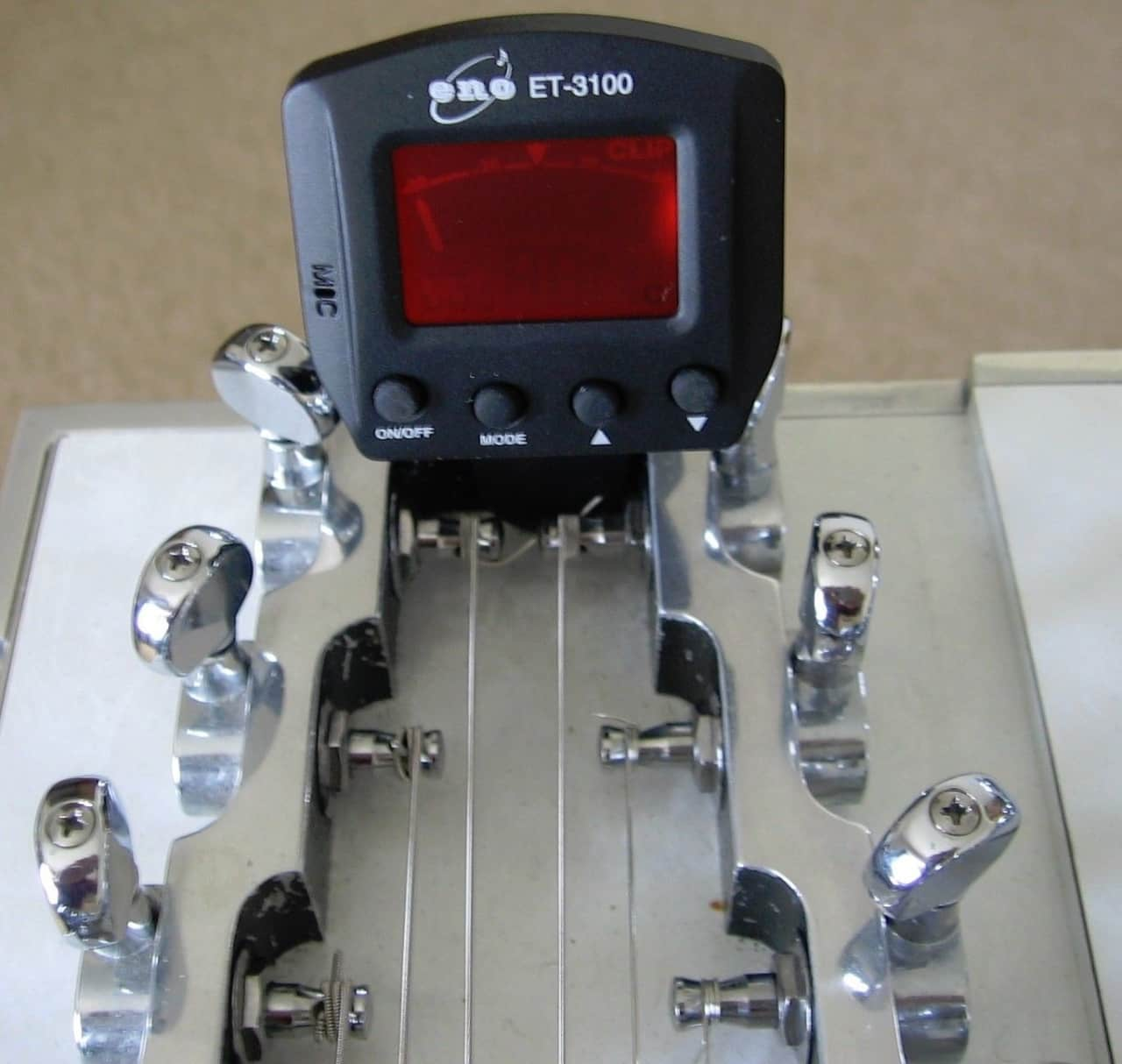 eno clip on guitar tuner pedal steel lap steel all reverb. Black Bedroom Furniture Sets. Home Design Ideas
