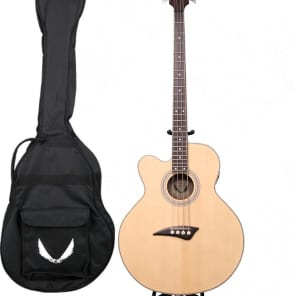 Dean Left Hand 4-String Acoustic/Electric Cutaway Bass w/ FREE GIG BAG, EABC L +AB PLAY AB for sale
