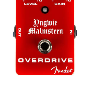 Fender Yngwie Malmsteen Signature Overdrive Guitar Effect Stomp Box Pedal for sale