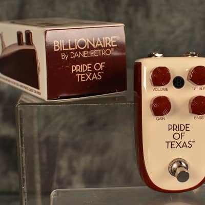 Danelectro Billionaire Pride of Texas True Bypass Overdrive Distortion Pedal Brand New Ships Free