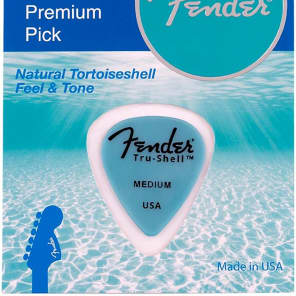 Fender 351 Shape Tru-Shell Premium Guitar Pick - MEDIUM - Single Pick for sale