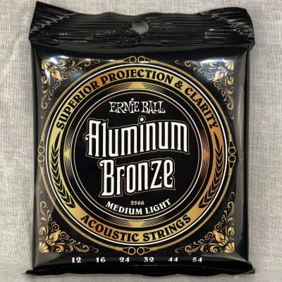Ernie Ball 2566 Aluminum Bronze Medium-Light Acoustic Guitar Strings, .012 - .054