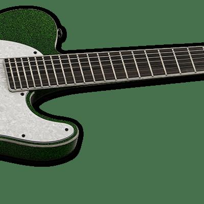ESP LTD SCT-607B Baritone Green Sparkle 7-String Guitar for sale