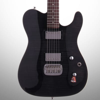 G&L Tribute ASAT Deluxe Carved Top Electric Guitar, Rosewood Fretboard, Transparent Black for sale