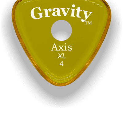 Gravity Picks Axis XL Round Grip 4mm Yellow Acrylic <GAXX4PR>