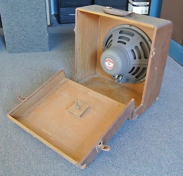 Vintage Ampro Speaker Cabinet Reverb