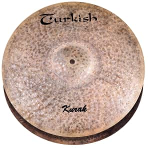 "Turkish Cymbals 14"" Custom Series Kurak Hi-Hat Flat Hole K-HF14 (Pair)"