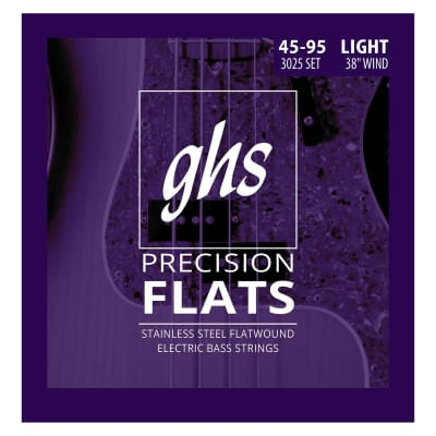 GHS Precision Flatwound Long Scale Light Bass 45-95