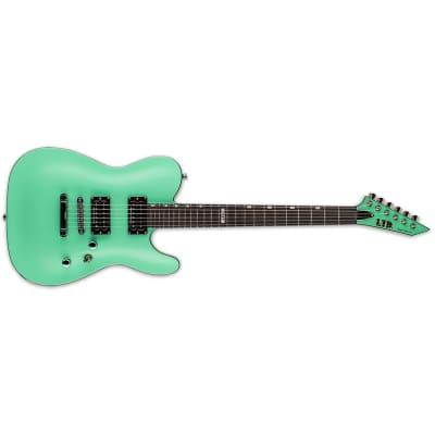 ESP LTD ECLIPSE '87 NT Neck-Thru Guitar, Macassar Ebony Fretboard, Turquoise