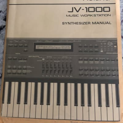 Roland Jv-1000 manual This is ONLY the manual