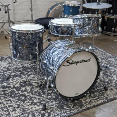 Slingerland 4-Piece Black Diamond Pearl Drum Set