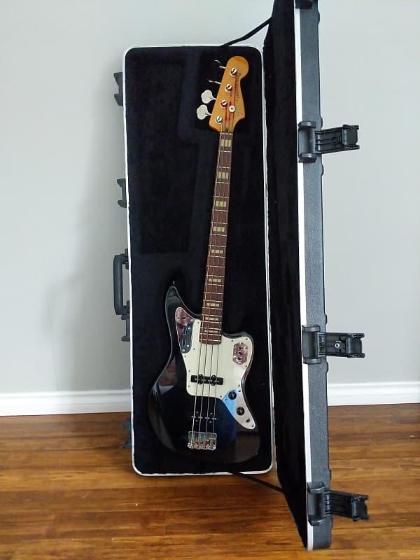 fender american standard jaguar bass black gear locker reverb. Black Bedroom Furniture Sets. Home Design Ideas