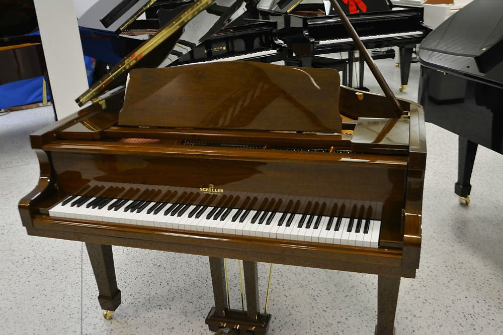 Schiller Baby Grand Piano - Walnut Polish