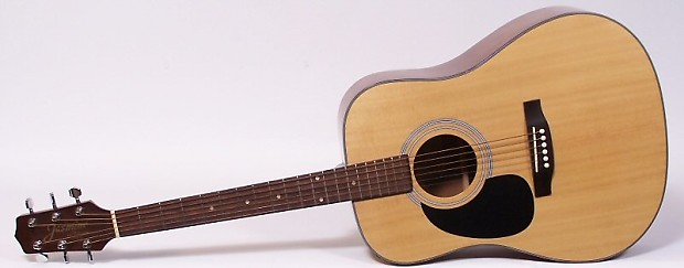 Jasmine By Takamine S33 Lh Left Handed Acoustic Guitar With Reverb
