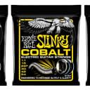 Ernie Ball 2727 Cobalt Beefy Slinky Electric Guitar Strings 11-54 (3-Pack)