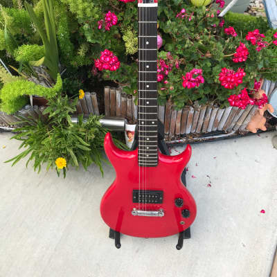 RARE Vintage Red 1970 Des Lauriers Model DE-60, 3/4 Size MIJ  for sale