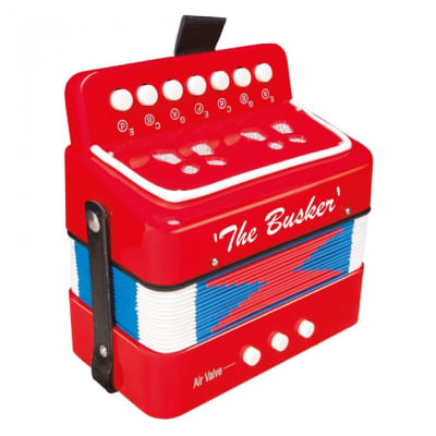 THE BUSKER MINI ACCORDIAN - RED for sale