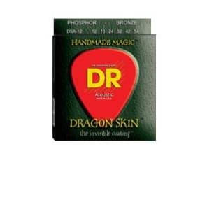 DR Strings DSA-12 Dragon Skin K3 Coated Acoustic Strings Medium for sale