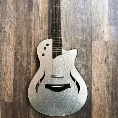 Taylor T5z Custom Electric Guitar Silver Sparkle for sale