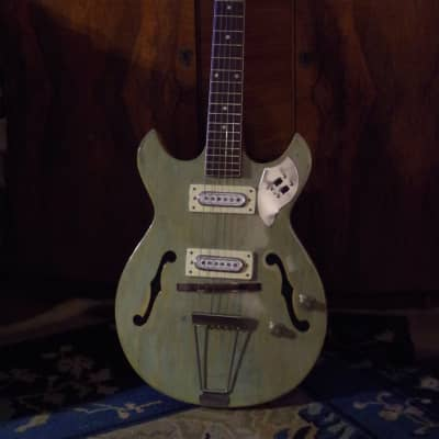 St. George / Matsumoku Hollow-Body Thinline 1960s Vintage Green for sale