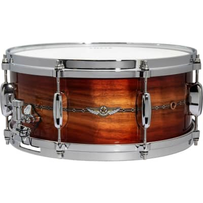 Tama Star Bubinga Limited Edition 14x6 Snare Drum - Red Blackwood Burst
